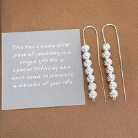70th Birthday Sparkly Beads Threader Earrings