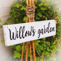 Personalised Veg Garden Or Allotment Sign, Cream/White/Sage