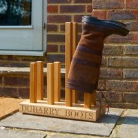 Personalised Wooden Welly Boot Floor Stand