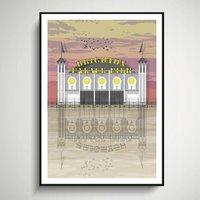 Palace Pier Sunset Architectural Print