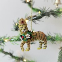Exotic Tiger Christmas Tree Decoration