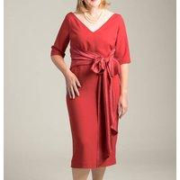 Handmade 1950s Inspired Bella Dress, Red/Ivory