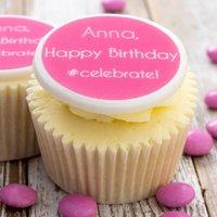Birthday #Celebrate Cupcake Decorations, Pink/Lilac/Blue
