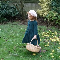 Girls Needlecord Smock Dress
