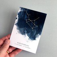 Sagittarius Constellation Zodiac Birthday Card