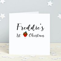 First Christmas Personalised Card