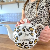 Personalised Leopard Print Teapot