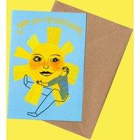 Sunshine Illustration Greeting Card