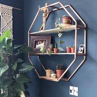 Copper Octagon Shelf Wall Hanging