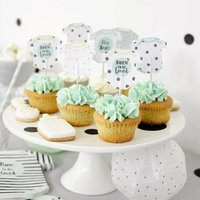 Baby Shower Baby Grow Shaped Cake Toppers