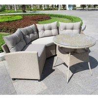 Corner Rattan Garden Sofa Set