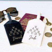 Personalised Wanderlust Luggage Tag