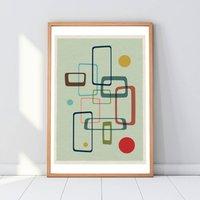 Mid Century Modern 07 Geometric Minimalist Art Print