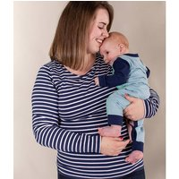 Navy With White Stripes Breastfeeding Top