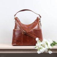 Amesbury Leather Slip Pocket Shoulder Bag