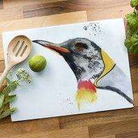 Inky Penguin Glass Worktop Saver