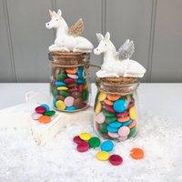 Unicorn Jar With Chocolate Beans