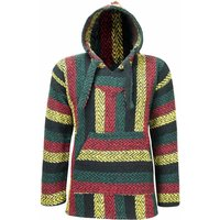 oland Outdoors Baja Mexican Poncho Hoodie