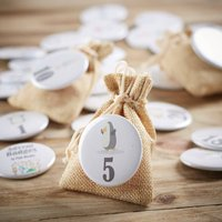 Christmas Character Advent Badges And Treat Bags