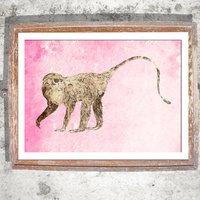 Strolling Monkey Limited Edition Print