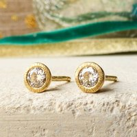 Sophia 18ct Fairtrade And Diamond Stud Ethical Earrings