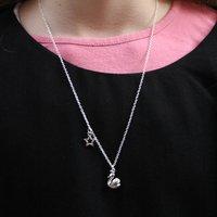 Children's Silver Swan Necklace, Silver