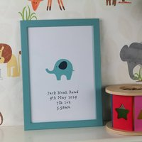 Personalised Baby Boy Nursery Print