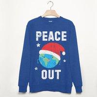 Peace Out Men's Festive Christmas Sweatshirt