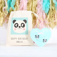 Panda Hair Clips And Personalised Bag
