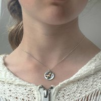 Children's Sterling Silver Name Unicorn Necklace, Silver