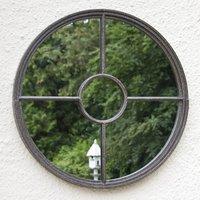 Rochelle Round Garden Mirror