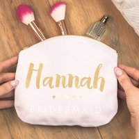 Bridesmaid Personalised Pastel Make Up Bag