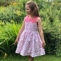 Girls Handmade Flamingo Special Occasion Dress