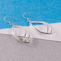 Silver Larme Drop Earrings, Silver