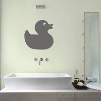 Rubber Duck Wall Sticker, Black/White/Cream