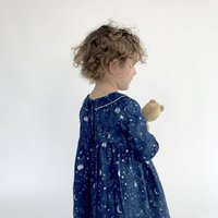 "Royal ""Silver Interstellar"" Print Dress"