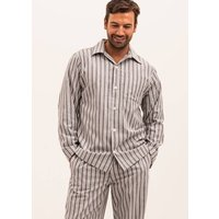 Men's Brushed Cotton Vintage Stripe Pyjamas