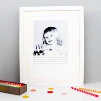 Personalised Photo Story Print