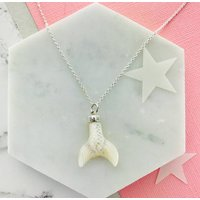 Mother Of Pearl Mermaid Tail Necklace