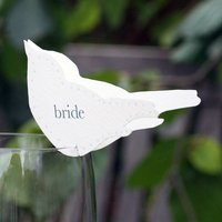 Wedding Bird Place Setting For Wine Glasses