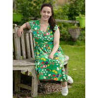 Womens Grow Your Own Green Wrap Dress