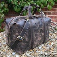 Rugged Vintage Leather Holdall, Flight Bag, Gym Bag