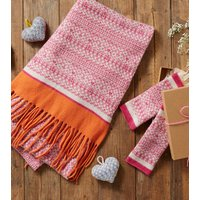 Wrap And Mitten Gift Set, Pink