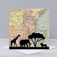 Safari Over Kenya And East Africa Card
