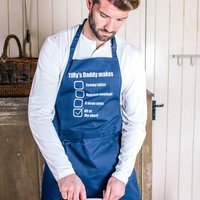 Personalised His Favourite Dishes Apron, Grey/Turquoise/Black