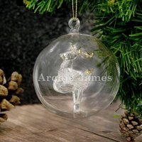 Personalised Hand Made Glass Christmas Tree Bauble