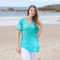 Aquamarine Luxury Silk Embroidered Tunic