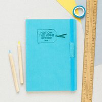 Corporate Logo Personalised Notebook, Red/Turquoise/Yellow