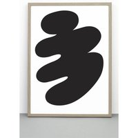 Abstract Body Print, Illustrative Poster