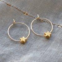 Petite Star Hoop Earrings